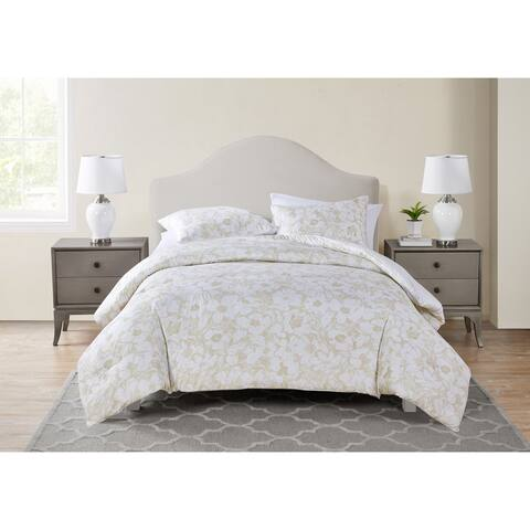 Tahari Home Rhianna Neutral Floral Comforter Set