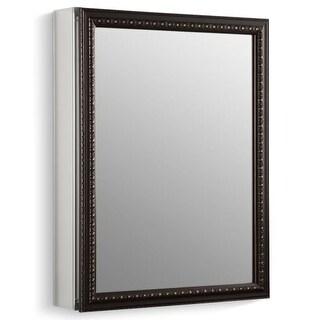 "Kohler K-2967 20"" x 26"" Single Door Reversible Hinge Framed Mirrored Medicine Cabinet with Oil Rubbed Bronze Finish"