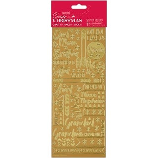 Contemporary Christmas Relations -Gold-Papermania Outline Stickers
