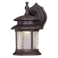 "Westinghouse 6400300 9.75"" Tall 3 Light LED Outdoor Lantern Wall Sconce - Gold"