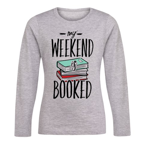 My Weekend Is Booked - Youth Girl Long Sleeve Tee