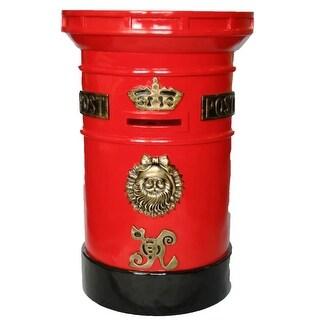 "Christmas at Winterland WL-MAILBOX 36"" Tall Polyresin Santa North Pole Mail Box with Locking Door - MultiColor"