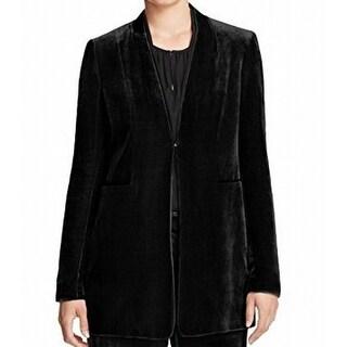 Elie Tahari NEW Black Silk Velvet Women's Size 6 Basic Blazer Jacket