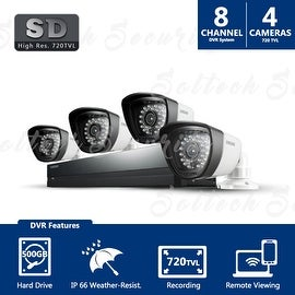 SDS-P4042 - Samsung 8ch 960H Security Camera System