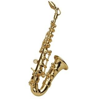 Women's Miniature Musical Instrument Lapel Pins - Velvet Lined Case - Saxophone