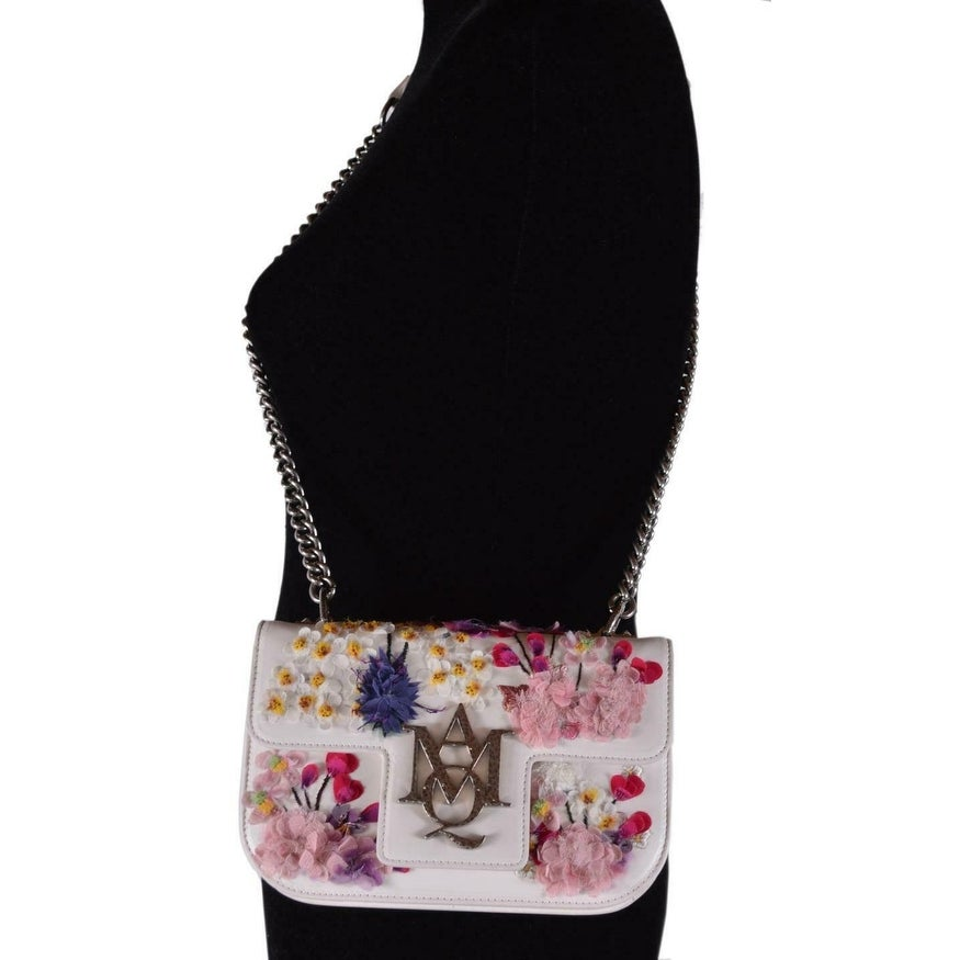 5fddb0a57 Shop New Alexander Mcqueen Small Embroidered Floral Leather Insignia Purse  - Multi - Free Shipping Today - Overstock - 28494654