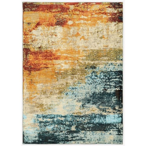 Strick & Bolton Pepi Eroded Abstract Rug