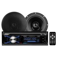 "Boss 508UAB CD/MP3 AM/FM Receiver With USB/SD Plus one Pair of 6.5"" Speakers"