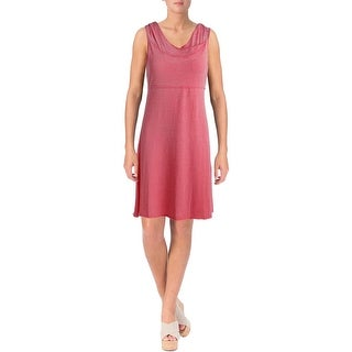 Marc New York by Andrew Marc Womens Performance Dress Hooded Knee-Length
