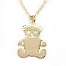 Julieta Jewelry Teddy Bear Charm Necklace