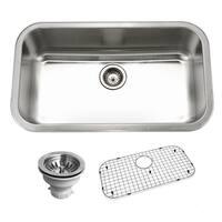 "Houzer BSG-3018 Belleo 32"" Drop In Single Basin Stainless Steel Kitchen Sink"