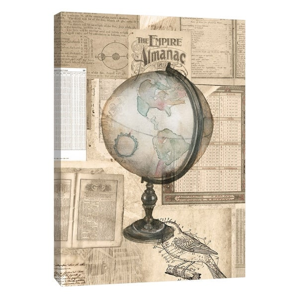"PTM Images 9-105404 PTM Canvas Collection 10"" x 8"" - ""Academic Globe Illustration"" Giclee Globe Art Print on Canvas"