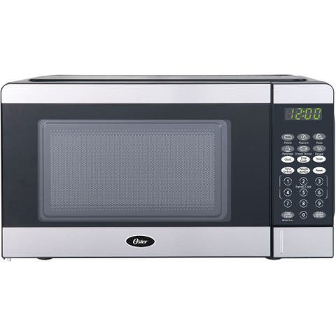 Oster Compact-Size 0.7-Cu. Ft. 700W Countertop Microwave Oven with Stainless Steel Door Trim and Express Cook