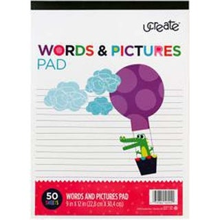 """50 Sheets - U-Create Words & Picture Pad 9""""x12"""""""