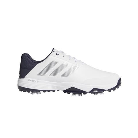 Adidas Men's Adipower Bounce White/Silver Metallic/Noble Ink Golf Shoes F33575-F33782