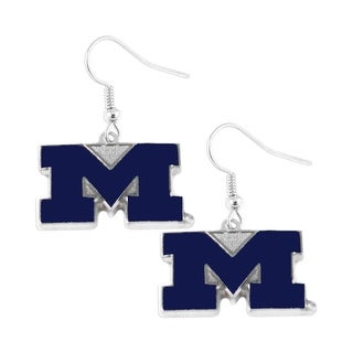 Michigan Wolverines Dangle Logo Earring Set NCAA Charm Gift