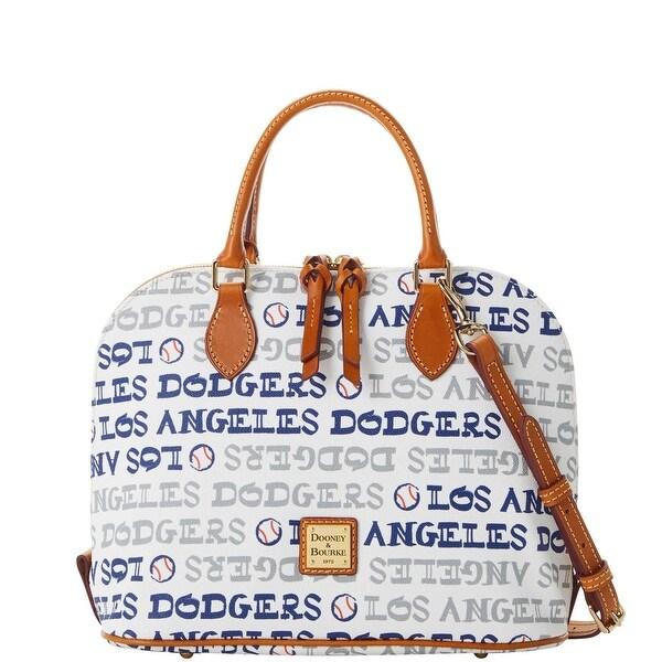 Dooney /& Bourke MLB Los Angeles Dodgers Zip Zip Satchel