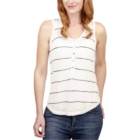 Lucky Brand Womens Stripe Henley Shirt