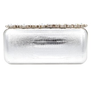 Ehp7016 Rhinestone Decorated Evening Bag-Silver