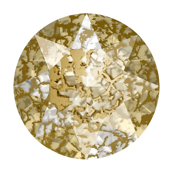Swarovski Elements Crystal, 1088 Xirius Round Stone Chatons ss29, 12 Pieces, Crystal Gold Patina F