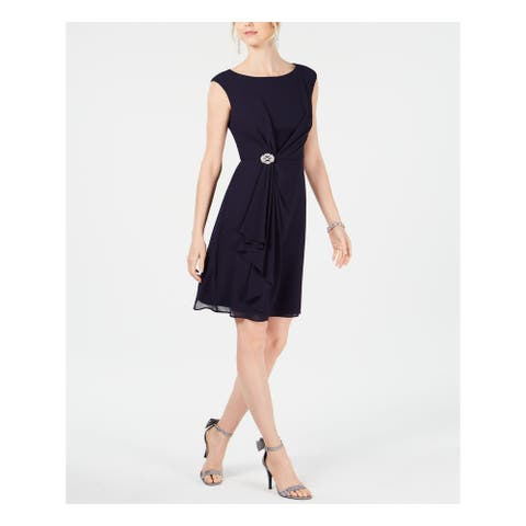 JESSICA HOWARD Navy Above The Knee Fit + Flare Dress Size 12