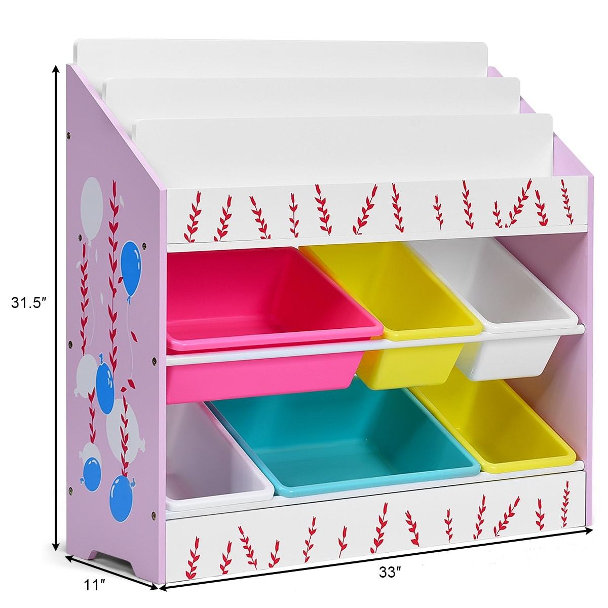 Costway Kids Toy Storage Organizer