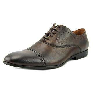 Aldo Scottie Men Cap Toe Leather Brown Oxford