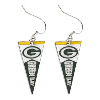 Green Bay Packers NFL Pennant Dangle Earring