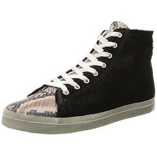 Kim & Zozi Womens Micro Fashion Sneakers Leather Snake Print
