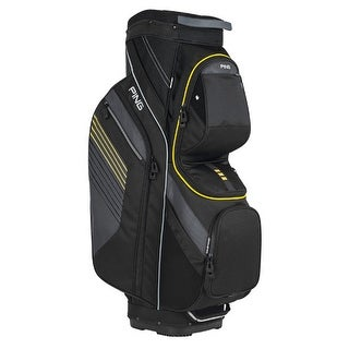New Ping 2017 Traverse Golf Cart Bag (Black / Charcoal / Yellow) - black / charcoal / yellow