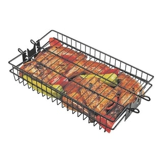 "Grill Pro 24785 Non-Stick Flat Spit Rotisserie Grill Basket, 16"" x 7.5"" x 2"""
