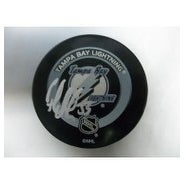 Signed Modin Fredrik Tampa Bay Lightning Tampa Bay Lightning Game Hockey Puck autographed
