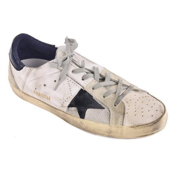 Shop Golden Goose Colorblock Mixed Materials Superstar Sneakers ... 57f9ebe8c043
