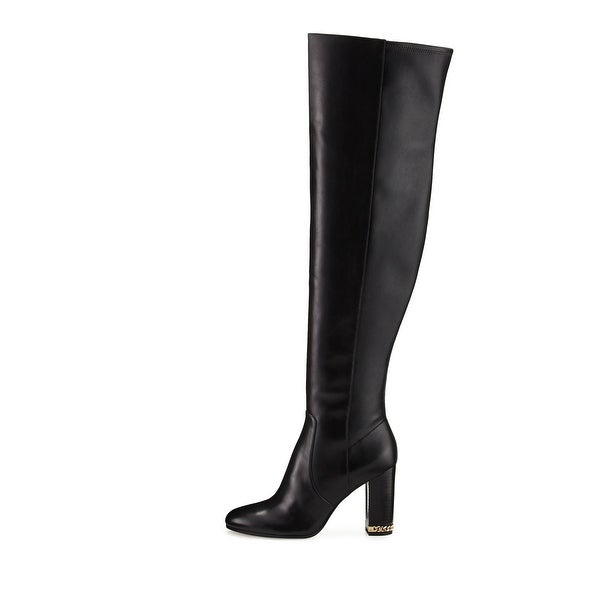 3a2bbf0a994 MICHAEL Michael Kors Womens Sabrina Boot Leather Closed Toe Over Knee  Fashion.