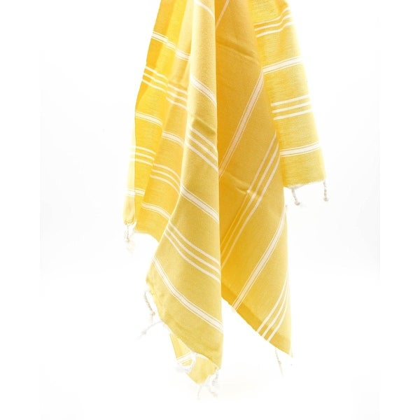 Turkish Cotton Light Yellow Color L Beach Bath Towel Throw Blanket 90x67