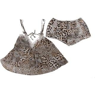 Oscar de la Renta Womens Lace Trim 2PC Pajama Set - S