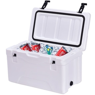 Costway Outdoor Insulated Fishing Hunting Cooler Ice Chest 30 Quart Sports Heavy Duty