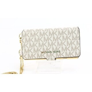 Michael Kors White Ivory iPhone Case Folio Bifold Leather Wallet