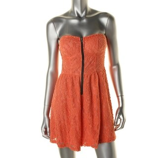 Material Girl Womens Lace Padded Bust Romper - S