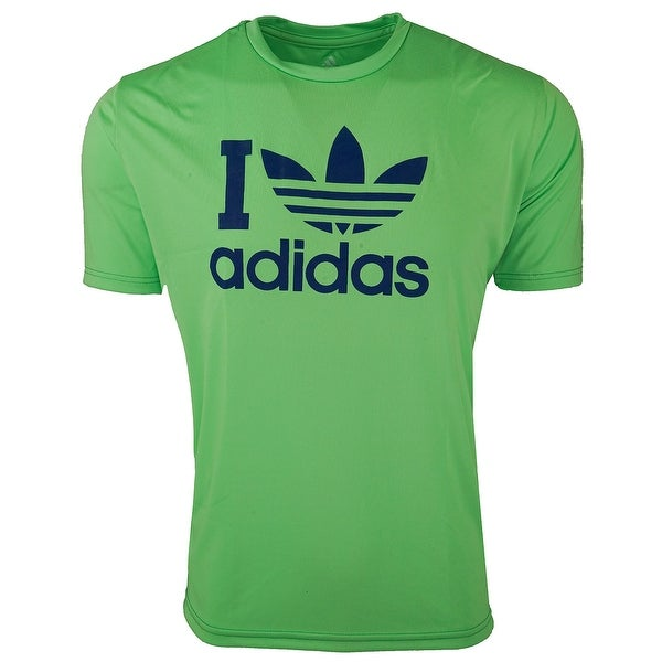 4cc22f288 Shop adidas Men's Adi Love Graphic T-shirt - mint green/blue - M - Free  Shipping On Orders Over $45 - Overstock - 25636547