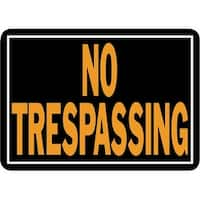 Hy-Ko 10X14 No Trespass Sign