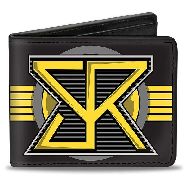 Seth Rollins Sr Icon + Text Browns Yellow Gray Black Bi Fold Wallet - One Size Fits most