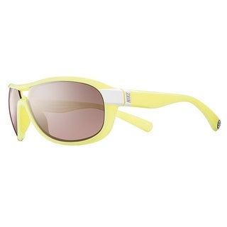 Nike EV0614 176 Miler White Electric Yellow Frames Sports Running Sunglasses - electric yellow