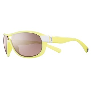 Nike EV0614 176 Miler White Electric Yellow Frames Sports Running Sunglasses - electric yellow