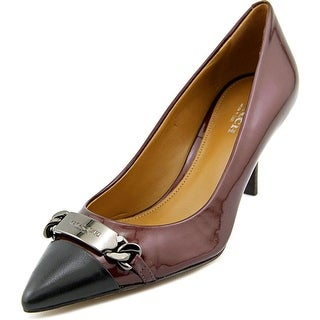 Coach Bowery Pointed Toe Patent Leather Heels
