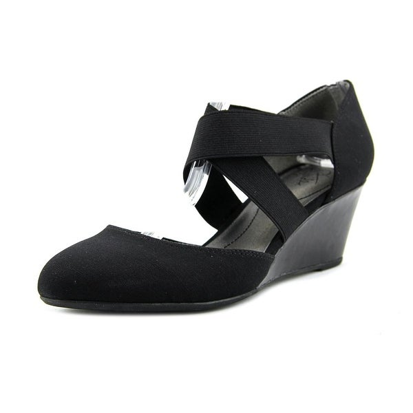 3ba978af30c Shop Life Stride Darcy Open Toe Synthetic Wedge Heel - Free Shipping ...