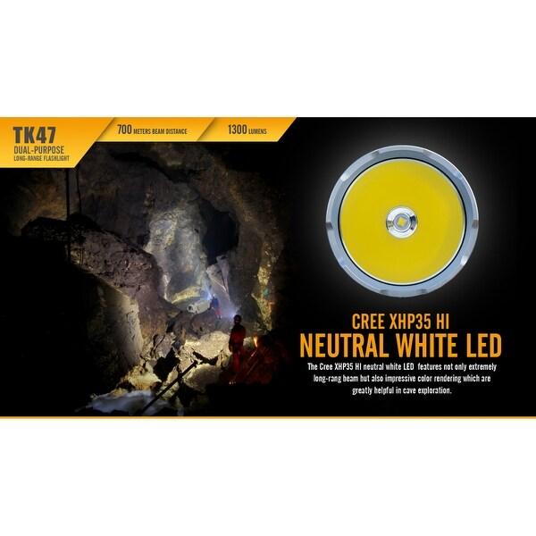 Fenix TK47 1300 Lumen 766 Yd Long Throw Neutral White LED Tactical Flashlight