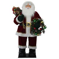 "48"" Red and White Christmas Santa Claus Inflatable"