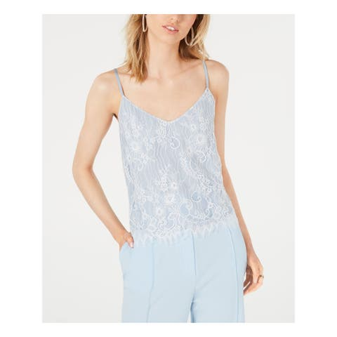 LEYDEN Womens Light Blue Spaghetti Strap V Neck Tank Top Size XL