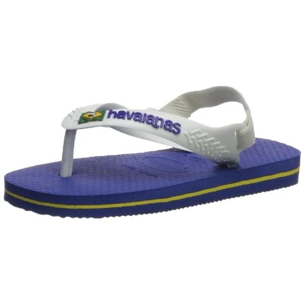 352559bdea206b Shop Havaianas Kids  Baby Brazil Logo Sandal Marine Blue - On Sale ...
